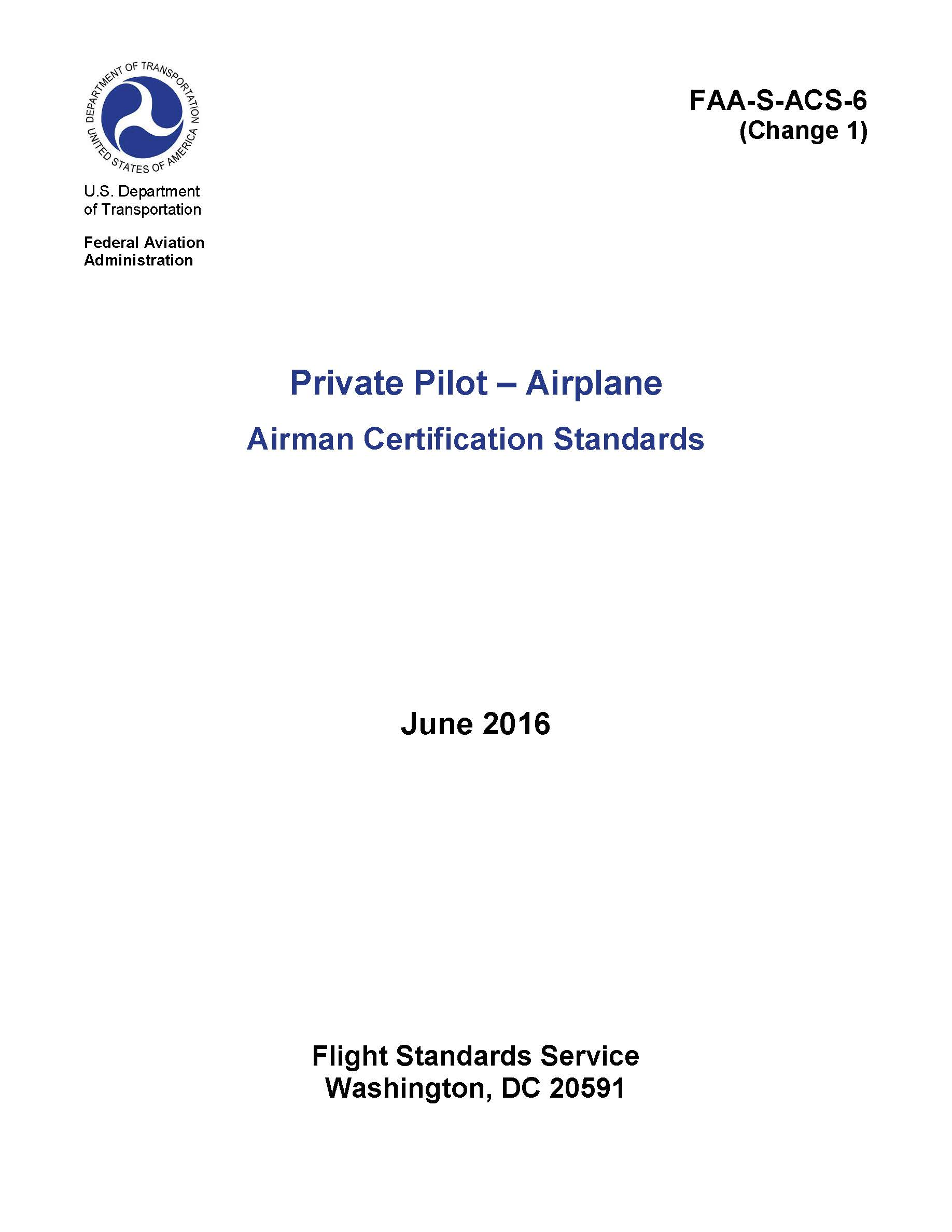 Learn to fly sf recommended reading equipment airman certification standards acs xflitez Choice Image